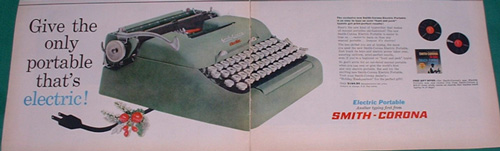 Advanced 1960 data processing – the electric typewriter!