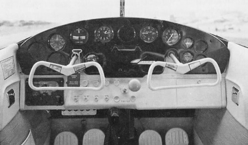 Only spartan radio comms (lower left) in a 1960 cockpit.
