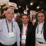 Javier Castillo de LBA con Antonio Vieira y Edson Souza, CEO de Apoio Tecnico de Brasil.