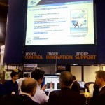 Vista del stand de Nautel en la presentacion de DRM.