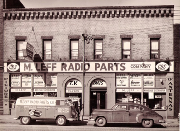 The 1960 radio parts store look – not your Radio Shack!