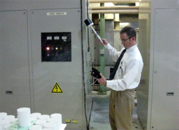 LBA CTO Chris Horne, PE auditing an industrial generator for hot spots