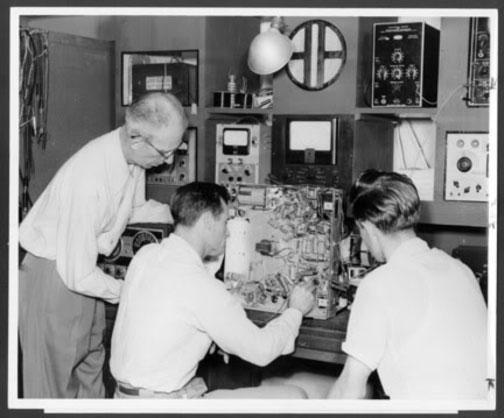 Vintage 1950's Radio-TV Repair Shop