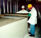 Technicians Applying LBA Room Shielding Systems
