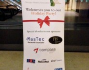 Sponsors for the 2012 Georgia Wireless Association Annual Holiday Party in Atlanta