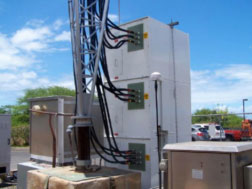 "AM collocation ""ColoCoil™"" system installed on an AM tower"