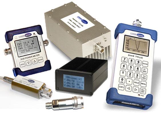 Analizadores de RF, amplificadores, Monitores VSWR y componentes de Comm-connect