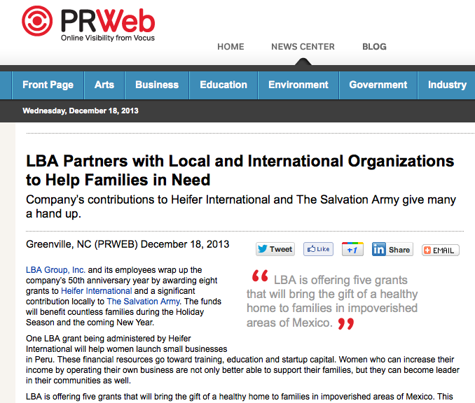 LBA Partners with Local and International Organizations to Help Families in Need