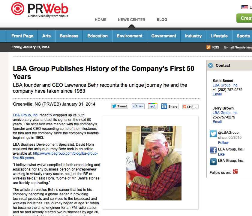 LBA Group Looks back at first 50 Years