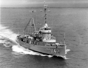 The USS Tawakoni was the NORD test ship under Behr's direction