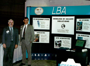 Lawrence Behr Associates participates in the wireless industry, such as this 1990's PCIA show
