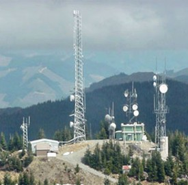 radio repeater site on mountain top