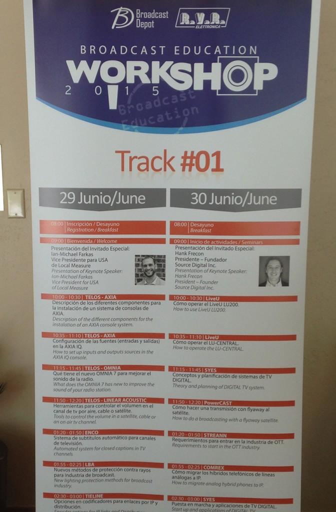 The 2015 Workshop agenda