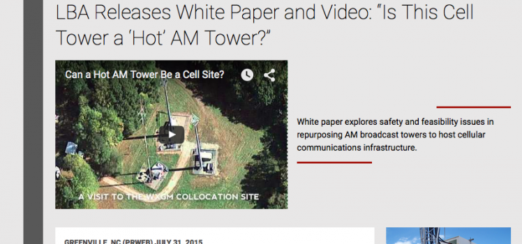 How to tell if a cell tower is a hot AM tower