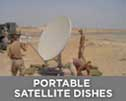 Use LBA lightning masts around Portable satellite dishes, mobile satellite antennas, field communications