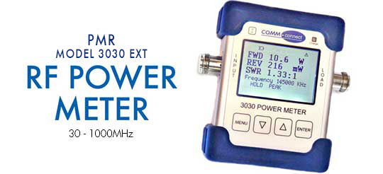 PMR 3030 VHF/UHF Digital RF Power/VSWR Meter: Light, Rugged